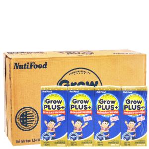 Thùng 48 hộp sữa bột pha sẵn NutiFood Grow Plus + tăng cân khỏe mạnh 180ml