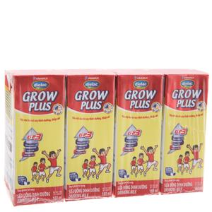 Lốc 4 hộp sữa bột pha sẵn Dielac Grow Plus 180ml (cho trẻ thấp còi)