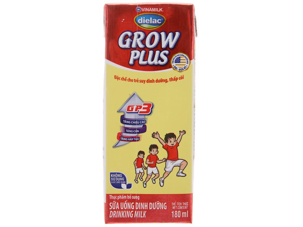 Lốc 4 hộp sữa uống dinh dưỡng Dielac Grow Plus 180ml (cho trẻ thấp còi) 3