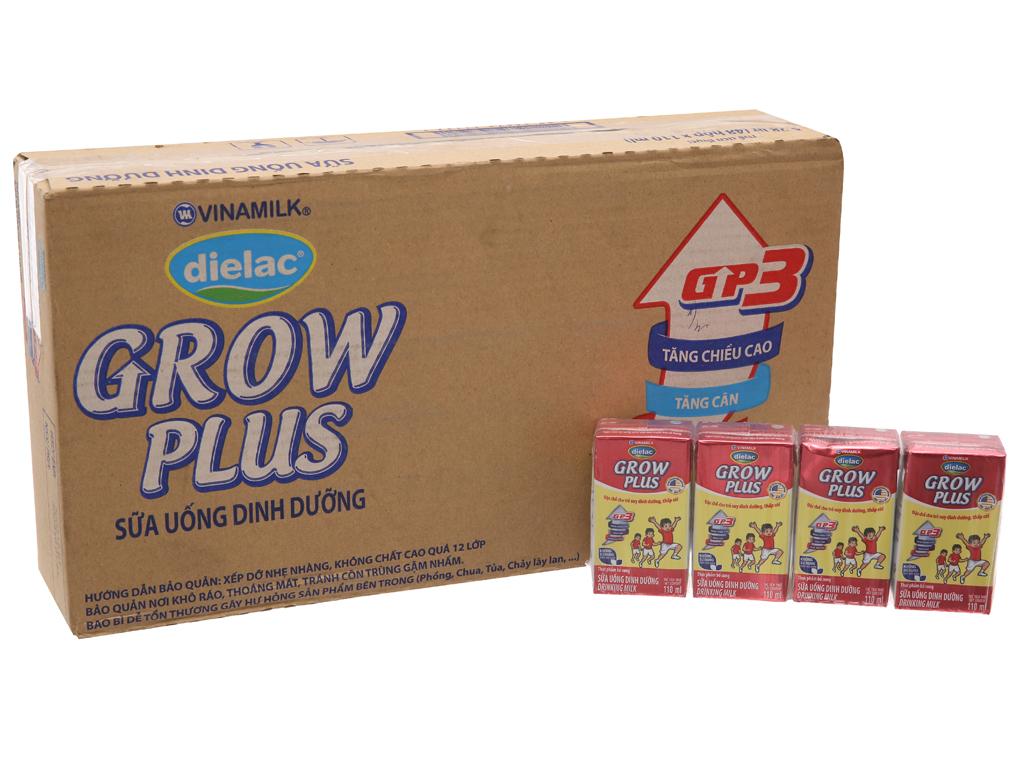 Thùng 48 hộp sữa uống dinh dưỡng Dielac Grow Plus 110ml (cho trẻ thấp còi) 1