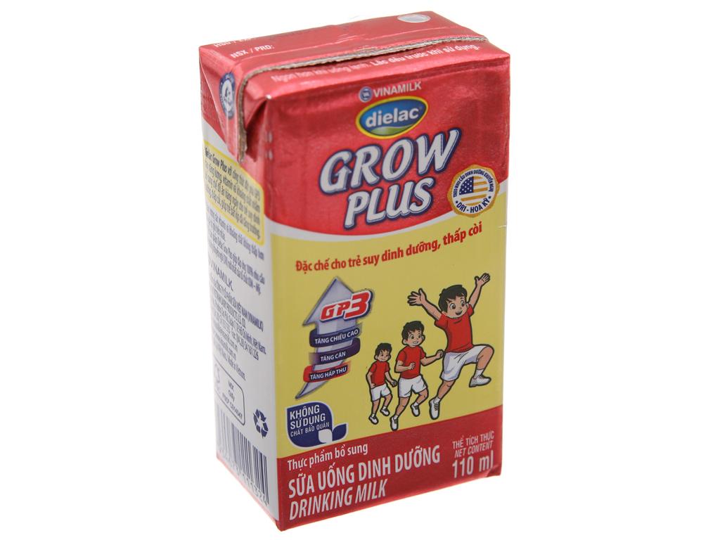 Thùng 48 hộp sữa uống dinh dưỡng Dielac Grow Plus 110ml (cho trẻ thấp còi) 2