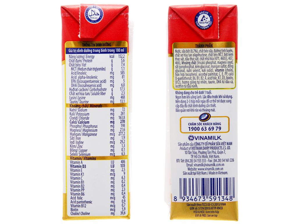 Thùng 48 hộp sữa bột pha sẵn Dielac Grow 180ml (tăng chiều cao) 5