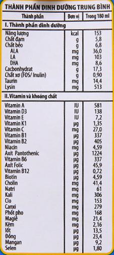 Sữa bột pha sẵn NutiFood Nuvita Grow 180ml 6