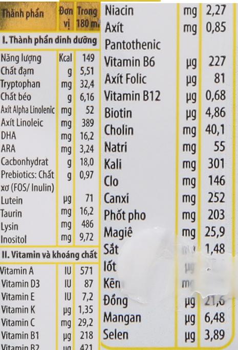 Sữa bột pha sẵn NutiFood Nuti IQ Gold 180ml 6