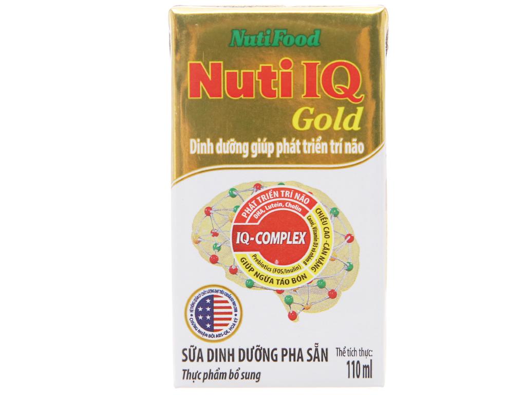Sữa dinh dưỡng pha sẵn NutiFood Nuti IQ Gold hộp 110ml 1