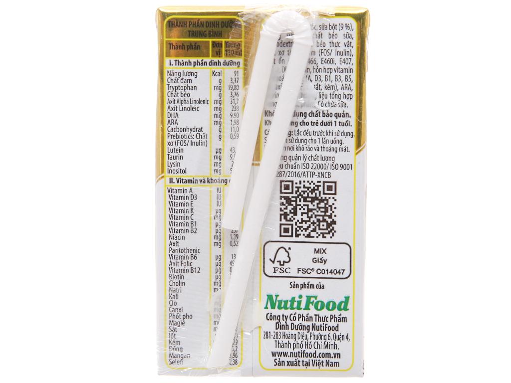 Sữa dinh dưỡng pha sẵn NutiFood Nuti IQ Gold hộp 110ml 2