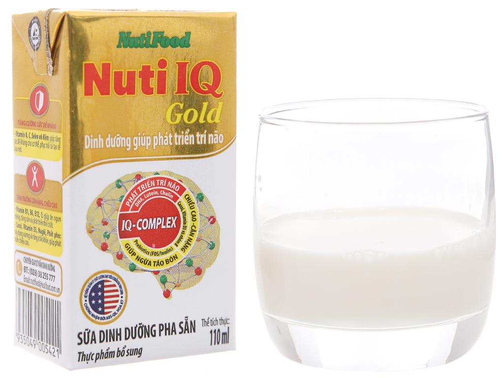 Sữa dinh dưỡng pha sẵn NutiFood Nuti IQ Gold hộp 110ml 4