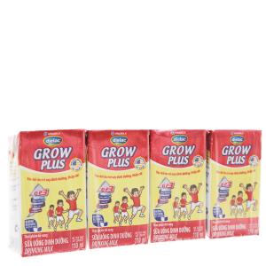Lốc 4 hộp sữa bột pha sẵn Dielac Grow Plus 110ml (cho trẻ thấp còi)