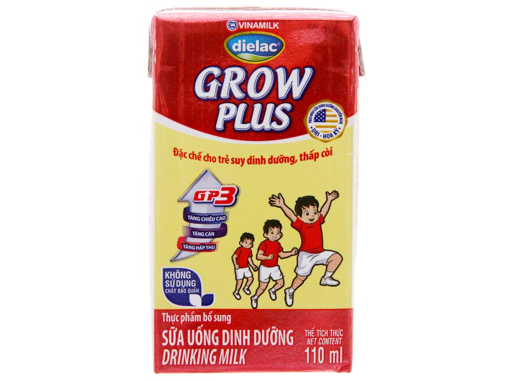 Lốc 4 hộp sữa bột pha sẵn Dielac Grow Plus 110ml (cho trẻ thấp còi) 3