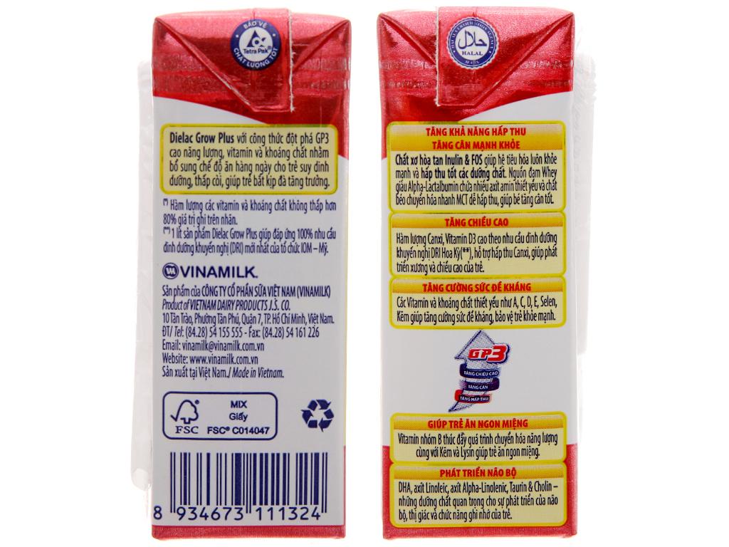 Lốc 4 hộp sữa bột pha sẵn Dielac Grow Plus 110ml (cho trẻ thấp còi) 5