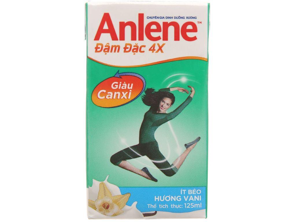 Lốc 4 hộp sữa bột pha sẵn Anlene Đậm đặc 4X vani 125ml 2