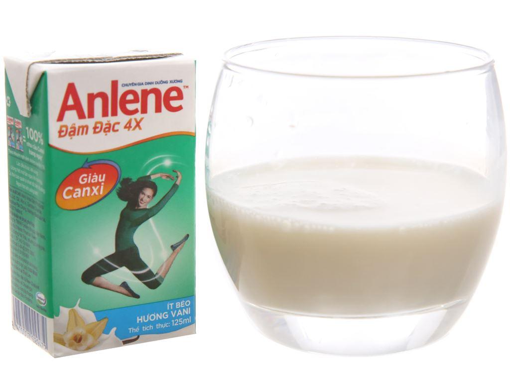 Lốc 4 hộp sữa bột pha sẵn Anlene Đậm đặc 4X vani 125ml 4