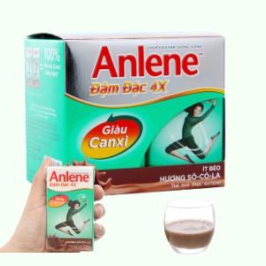 Lốc 4 hộp sữa bột pha sẵn Anlene Đậm đặc 4X socola 125ml