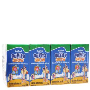 Lốc 4 hộp sữa bột pha sẵn NutiFood Nuvita Grow 110ml