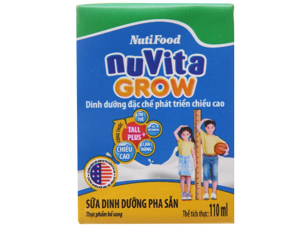 Lốc 4 hộp sữa dinh dưỡng pha sẵn NutiFood Nuvita Grow 110ml 3