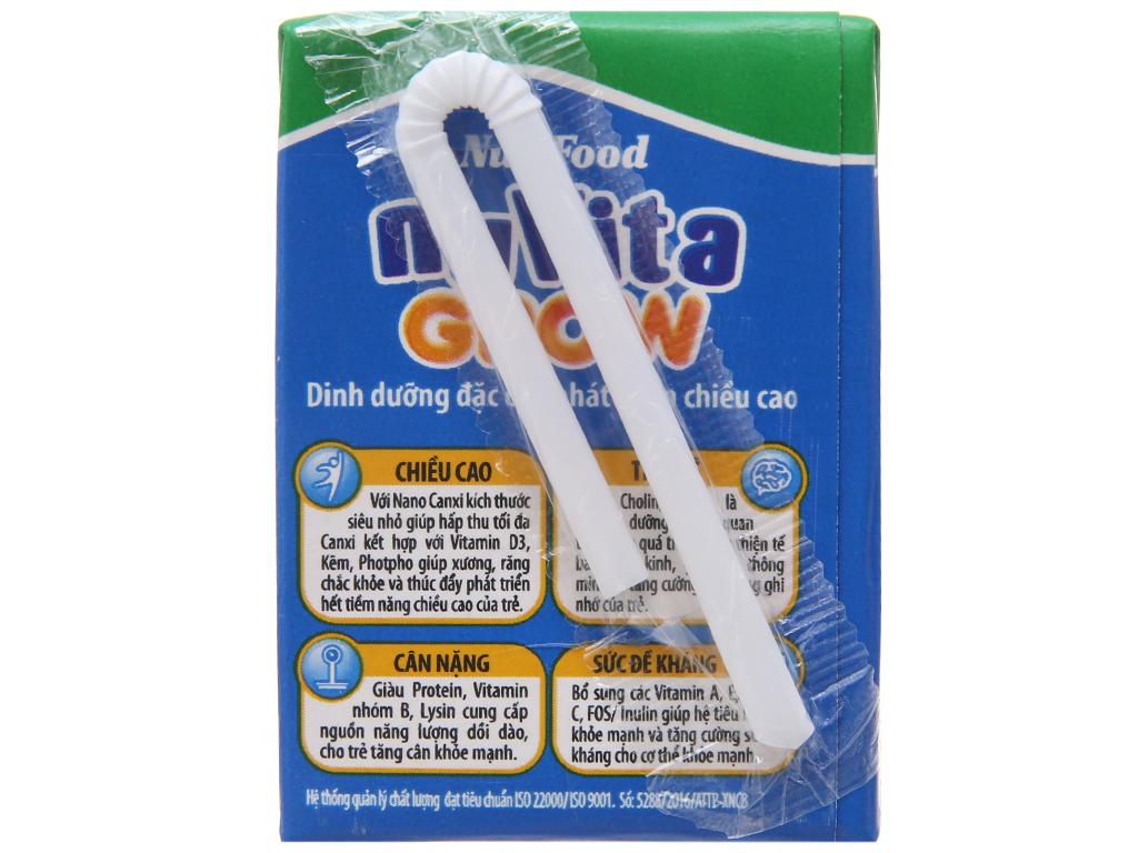 Lốc 4 hộp sữa dinh dưỡng pha sẵn NutiFood Nuvita Grow 110ml 4