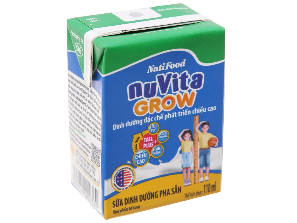Thùng 48 hộp sữa bột pha sẵn NutiFood Nuvita Grow 110ml 3
