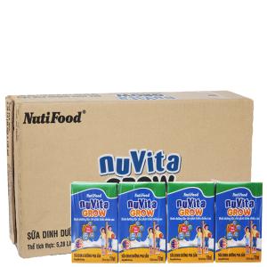 Thùng 48 hộp sữa bột pha sẵn NutiFood Nuvita Grow 110ml