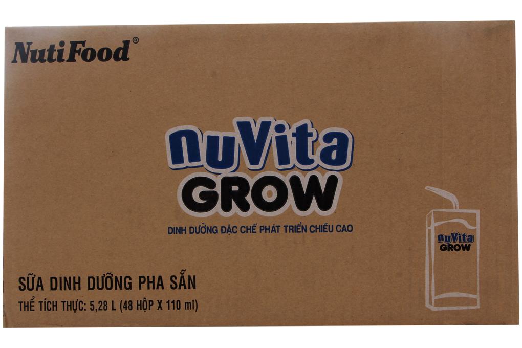 Sữa bột pha sẵn Nuvita Grow hộp 110ml (thùng 48 hộp)