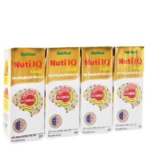 Lốc 4 hộp sữa dinh dưỡng pha sẵn NutiFood Nuti IQ Gold 180ml