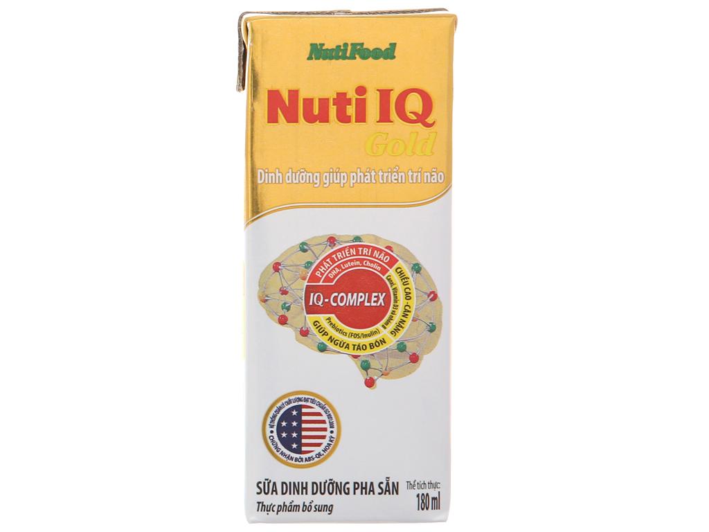 Lốc 4 hộp sữa dinh dưỡng pha sẵn NutiFood Nuti IQ Gold 180ml 3