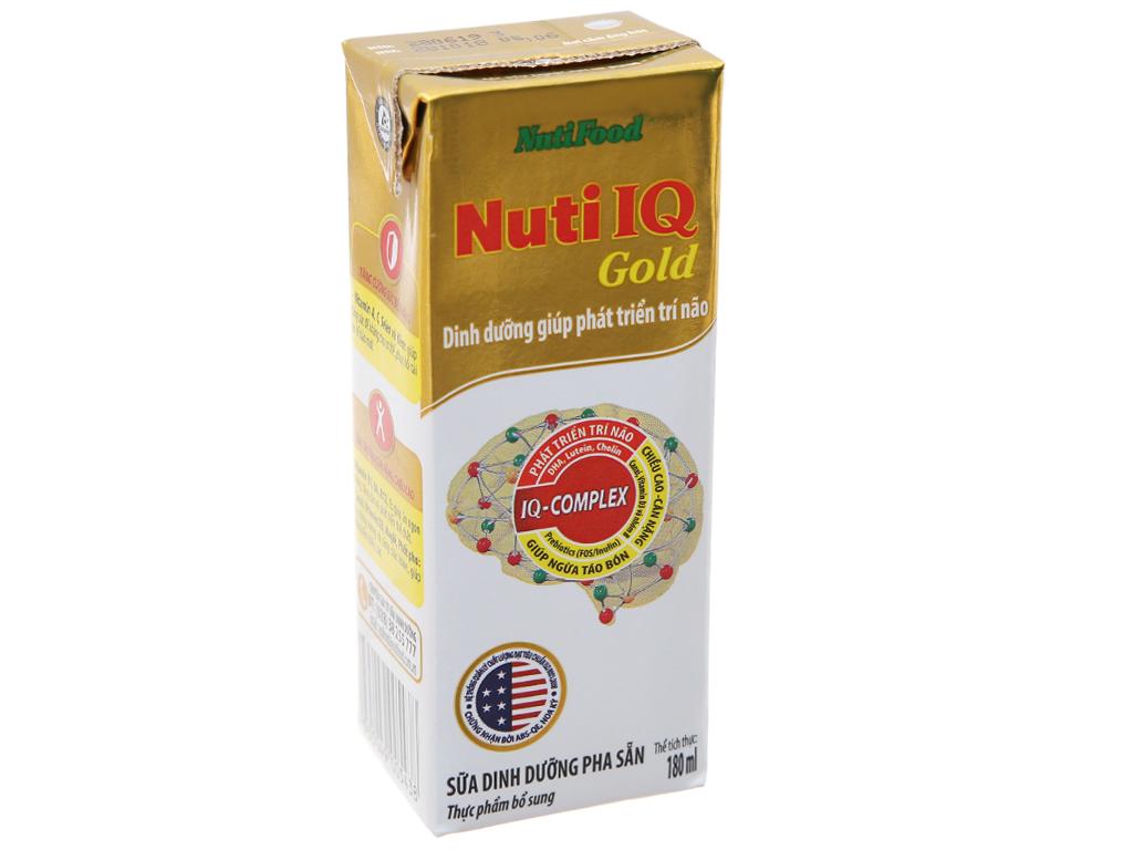 Thùng 48 hộp sữa dinh dưỡng pha sẵn NutiFood Nuti IQ Gold 180ml 3