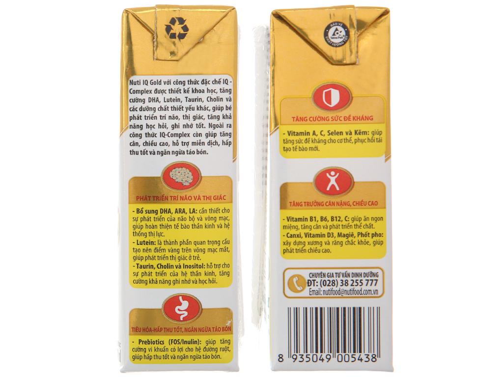 Thùng 48 hộp sữa dinh dưỡng pha sẵn NutiFood Nuti IQ Gold 180ml 5