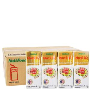 Thùng 48 hộp sữa dinh dưỡng pha sẵn NutiFood Nuti IQ Gold 180ml