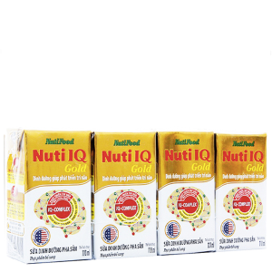 Lốc 4 hộp sữa dinh dưỡng pha sẵn NutiFood Nuti IQ Gold 110ml