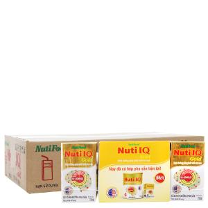 Thùng 48 hộp sữa bột pha sẵn NutiFood Nuti IQ Gold 110ml