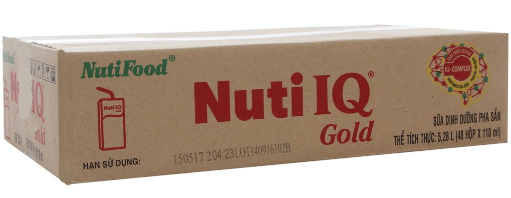 Sữa bột pha sẵn Nuti IQ Gold hộp 110ml (thùng 48 hộp)