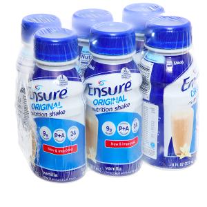 Lốc 6 chai sữa bột pha sẵn Ensure Original vani 237ml