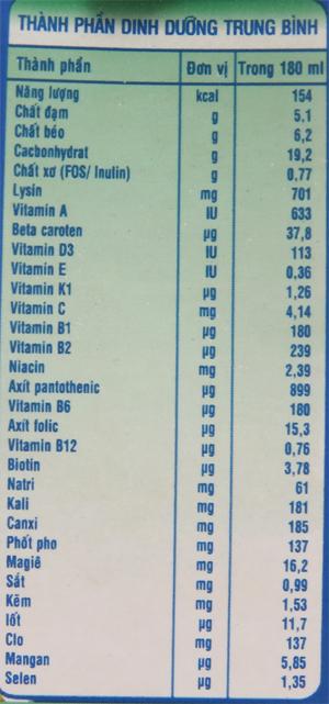 Lốc 4 hộp sữa bột pha sẵn NutiFood Grow Plus + tăng cân khỏe mạnh vani 180ml 6