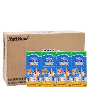 Thùng 48 hộp sữa bột pha sẵn NutiFood Nuvita Grow 180ml