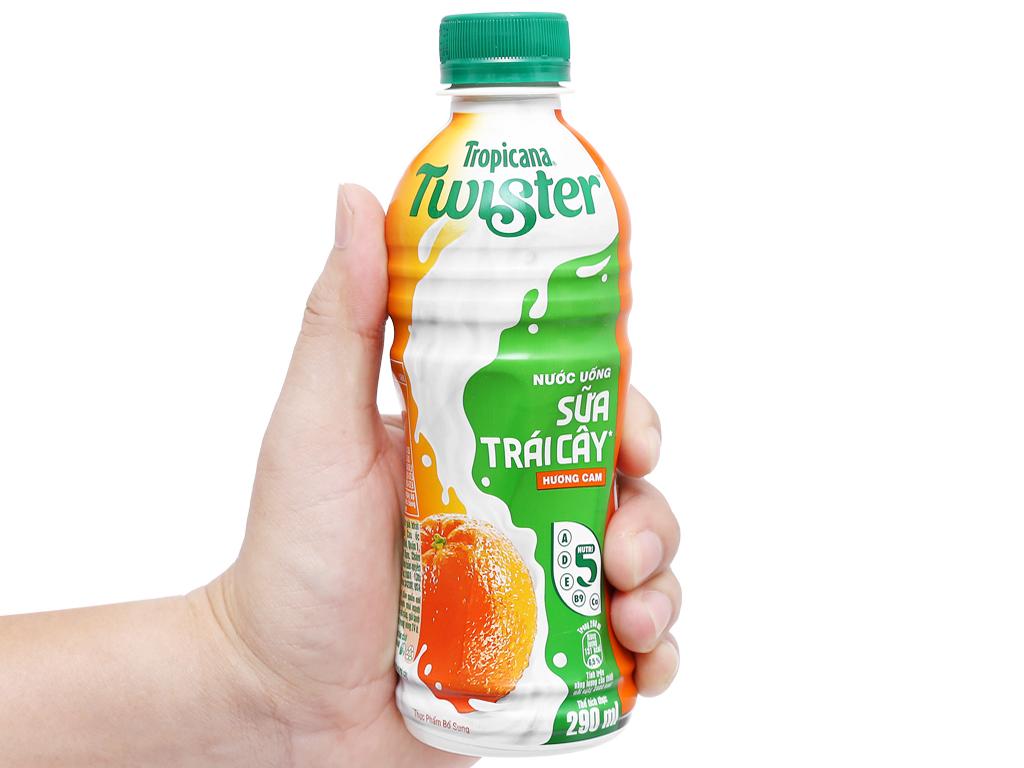 Sữa trái cây Twister hương cam 290ml 6