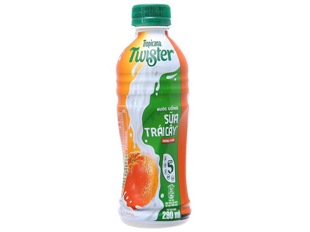 Thùng 24 chai sữa trái cây Twister hương cam 290ml 2