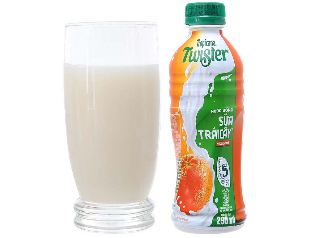 Thùng 24 chai sữa trái cây Twister hương cam 290ml 3