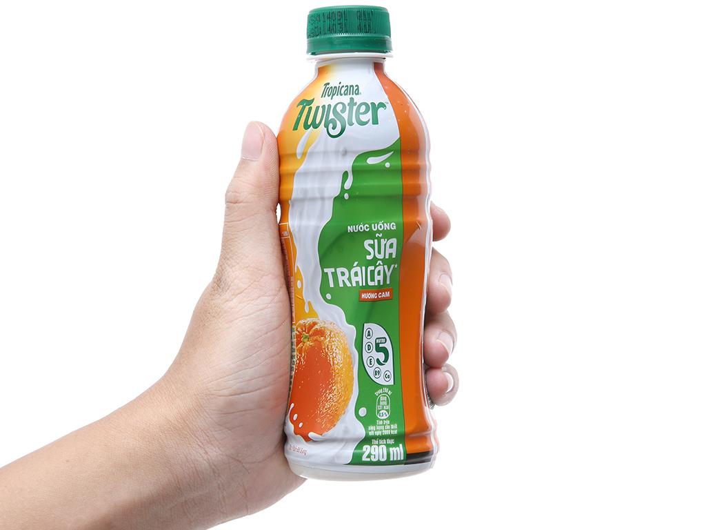 Thùng 24 chai sữa trái cây Twister hương cam 290ml 4
