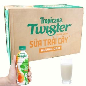 Thùng 24 chai sữa trái cây Twister hương cam 290ml