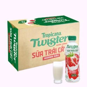 Thùng 24 chai sữa trái cây Twister hương dâu 290ml