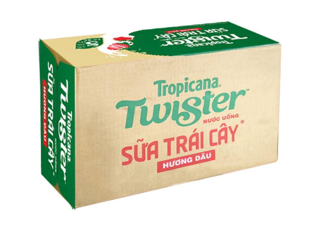 Thùng 24 chai sữa trái cây Twister hương dâu 290ml 1
