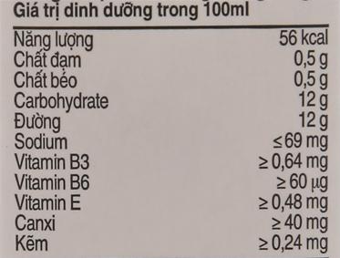Lốc 4 hộp sữa trái cây Nutriboost hương cam 180ml 6