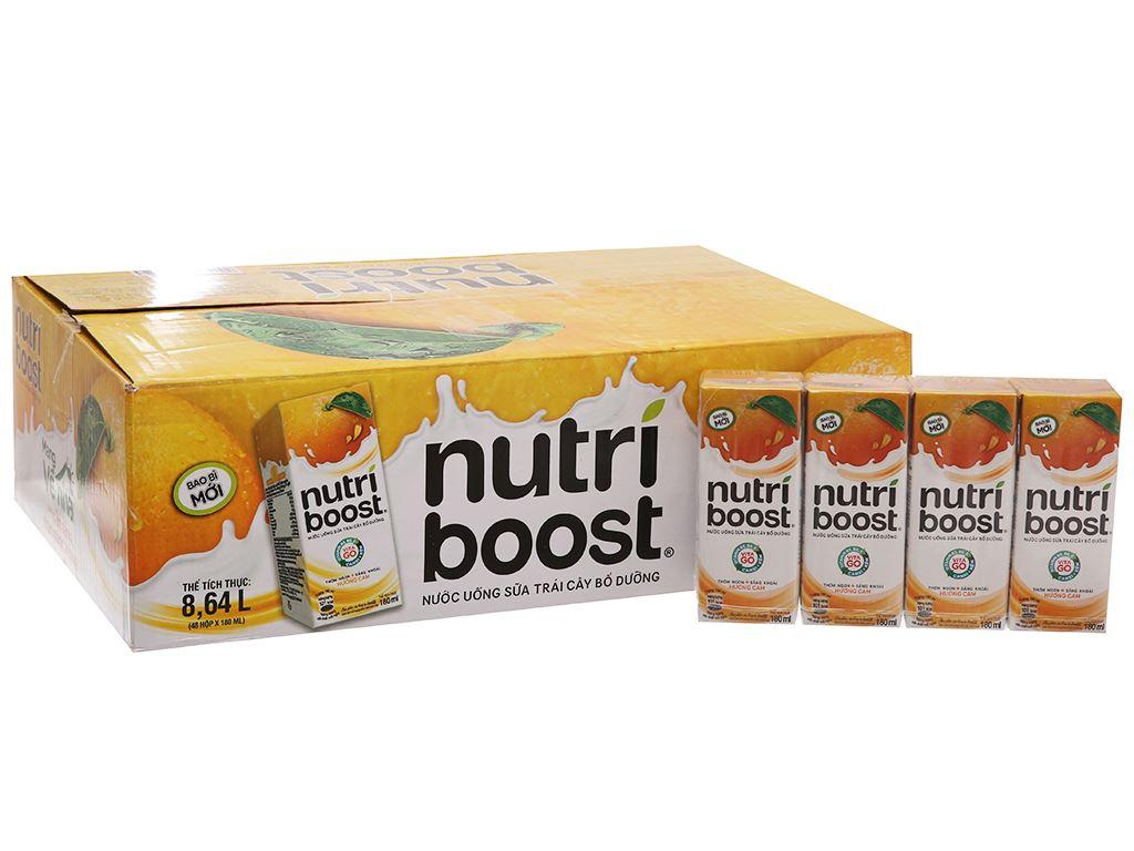 Thùng 48 hộp sữa trái cây Nutriboost hương cam 180ml 2