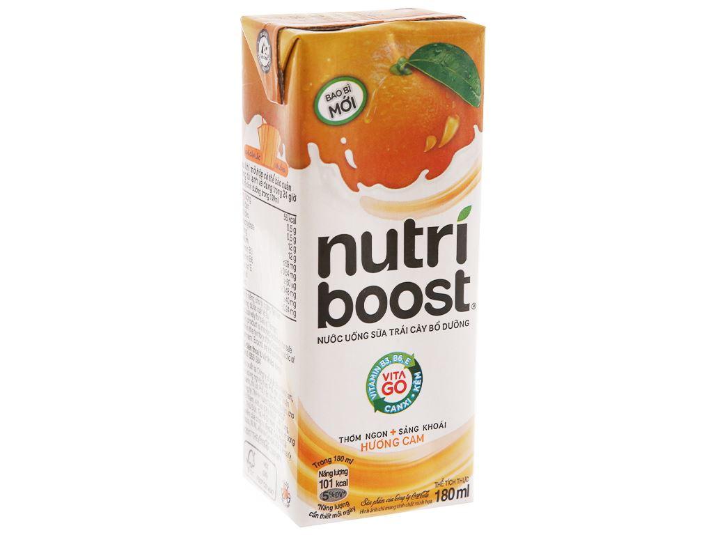 Thùng 48 hộp sữa trái cây Nutriboost hương cam 180ml 3