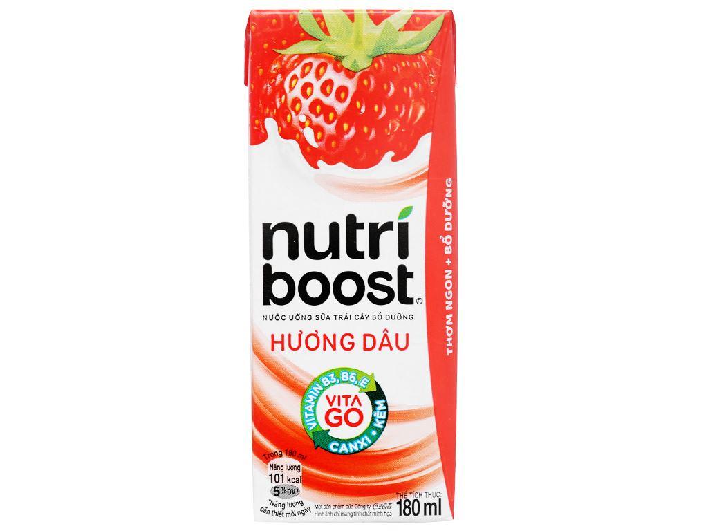 Sữa trái cây Nutriboost hương dâu 180ml 14