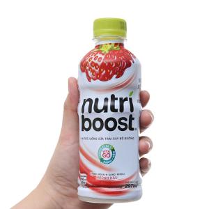 Sữa trái cây Nutri Boost hương dâu chai 297ml