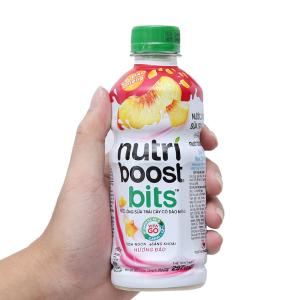 Sữa trái cây Nutriboost có đào miếng 297ml