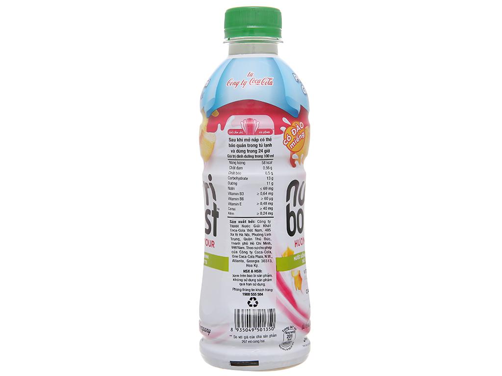 Lốc 6 chai sữa trái cây có đào miếng Nutriboost Bits 297ml 10