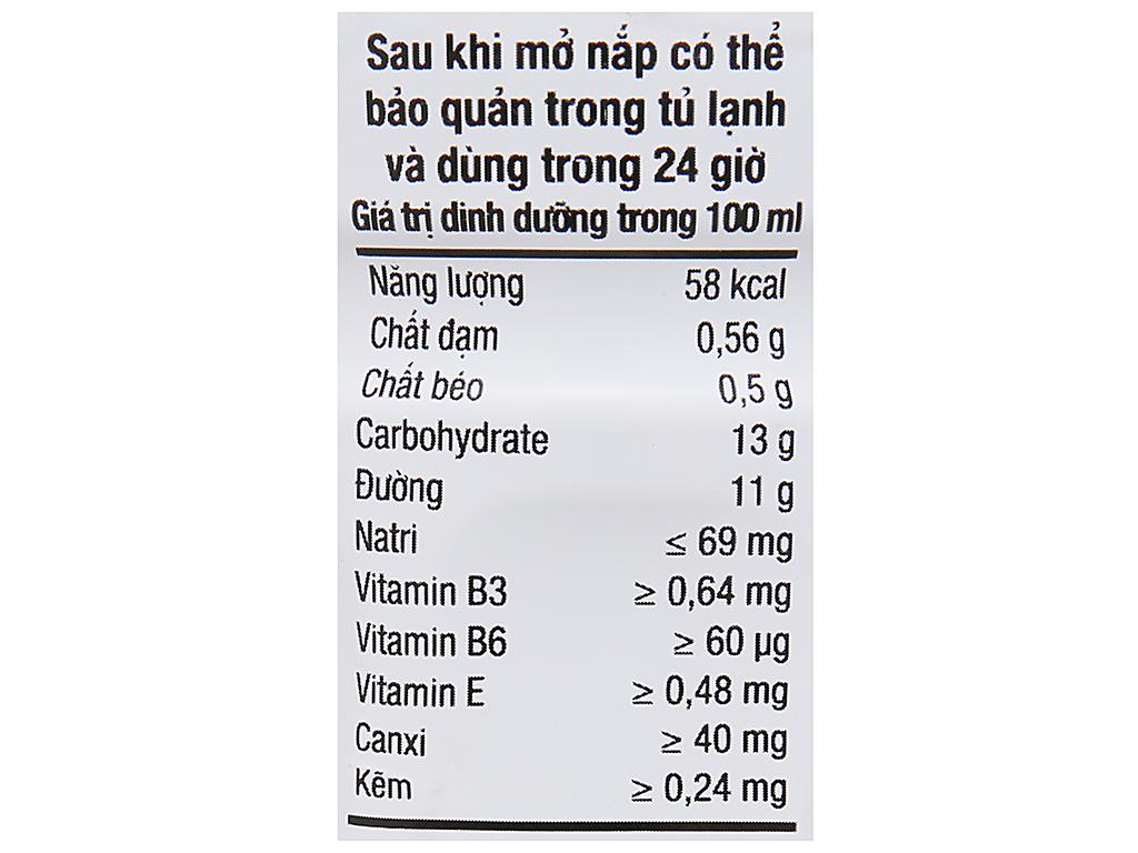 Lốc 6 chai sữa trái cây có đào miếng Nutriboost Bits 297ml 12