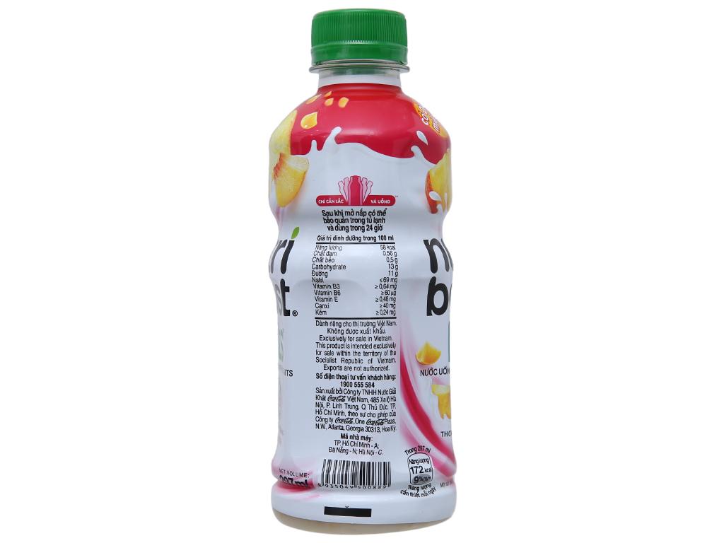 6 chai sữa trái cây Nutriboost có đào miếng 297ml 3